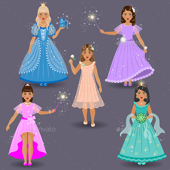 Cute Little Fairies and Princesses - People Characters