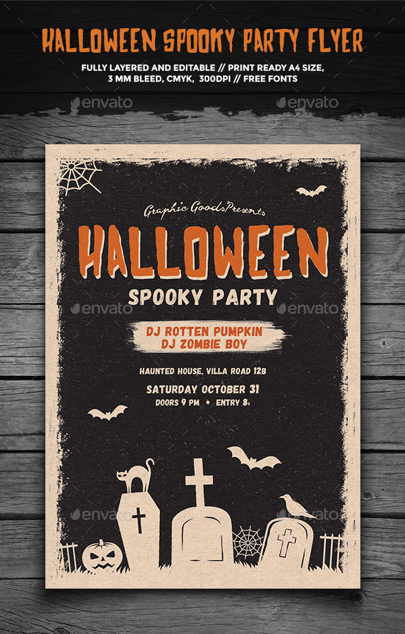 Halloween Spooky Party Flyer - Holidays Events
