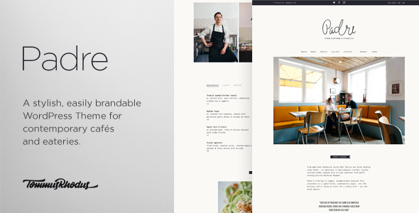 Padre Cafe & Restaurant WordPress Theme