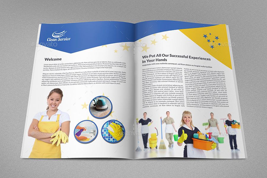 cleaning services brochure template 16 pages