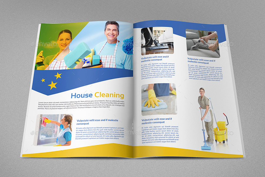 Cleaning services brochure template 16 pages by for Cleaning service brochure templates