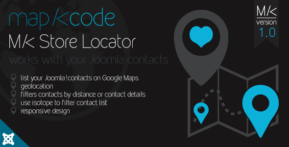 MK Store Locator Geolocation and style maps for Joomla