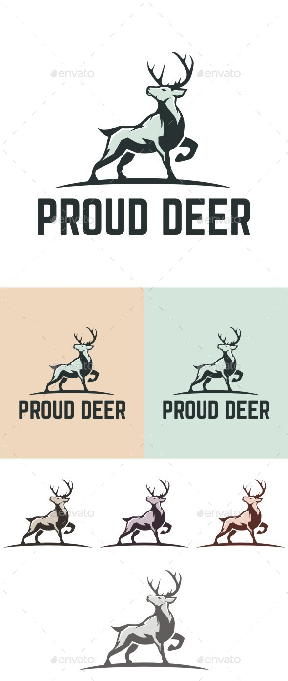 Proud Deer - Animals Logo Templates