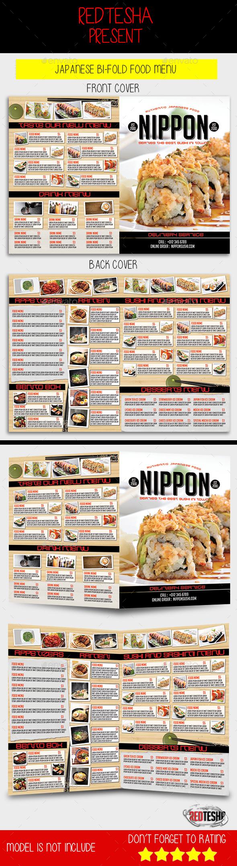 Japanese Bifold Food Menu - Food Menus Print Templates