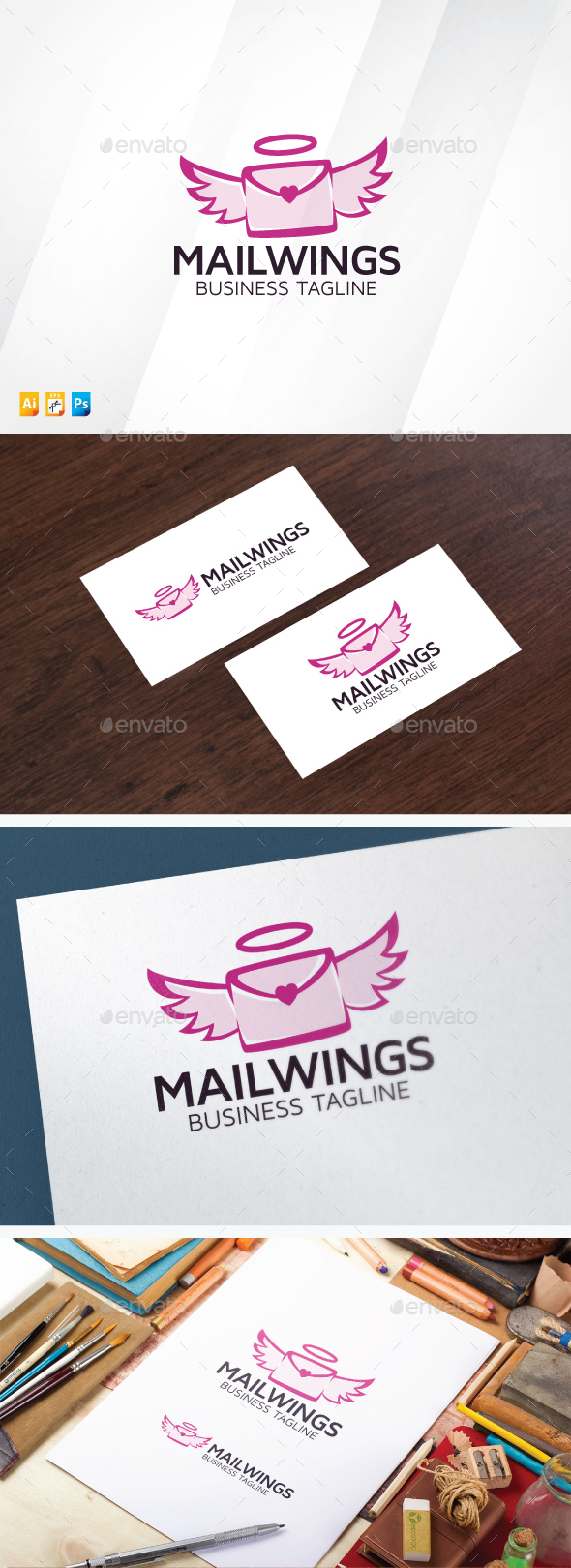 Love Letter Logo - Objects Logo Templates