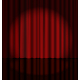 Red Stage Curtain with Light Spot - GraphicRiver Item for Sale