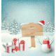 Christmas Winter with Signpost Snowman Gift Boxes - GraphicRiver Item for Sale