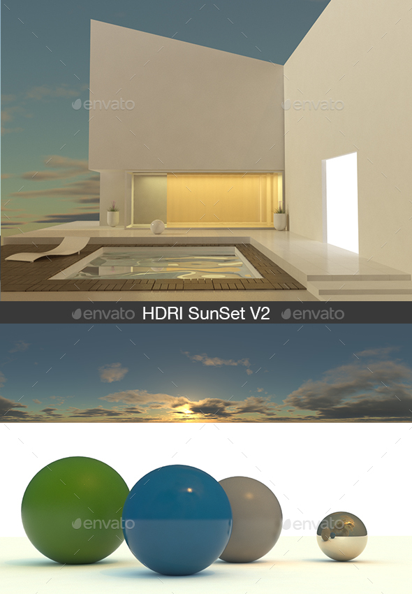 HDRI Sunset V2 - 3DOcean Item for Sale