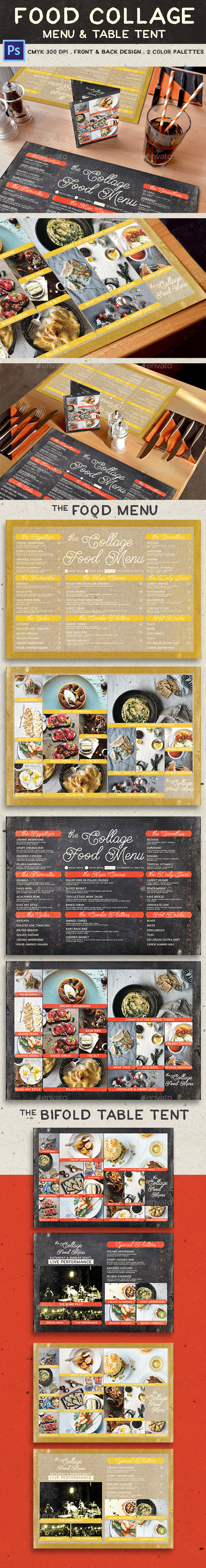 Food Collage Menu