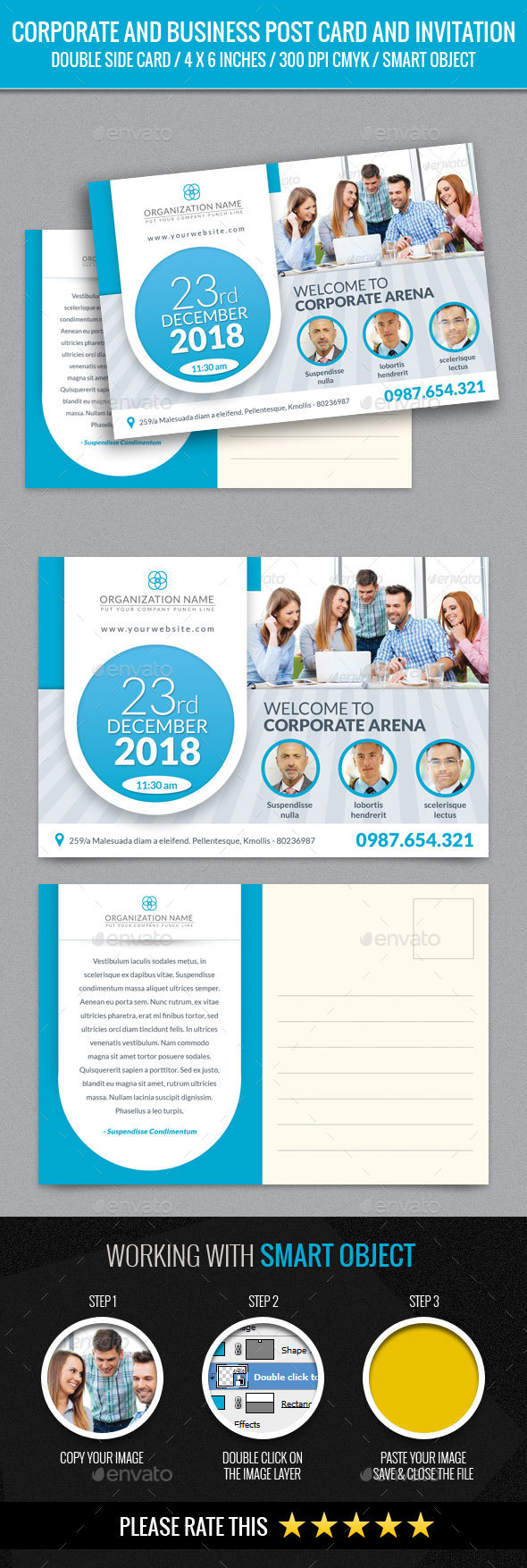 Corporate and Business Post Card Template