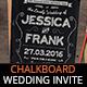 Chalkboard Vintage Wedding Invite - GraphicRiver Item for Sale