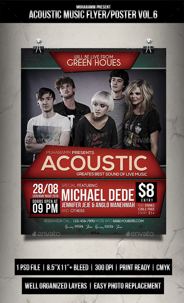 Acoustic Music Flyer / Poster Vol.6 - Events Flyers