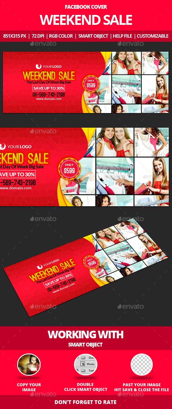Weekend Sale Facebook Cover