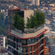 Apartment Building With Trees On Top In The City - VideoHive Item for Sale