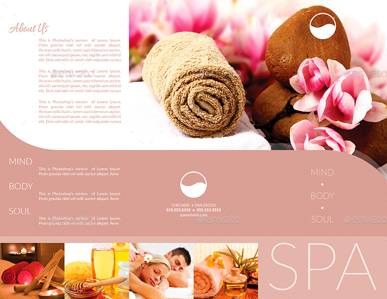 Spa Brochure. Wellness Brochure Template - For Relaxation