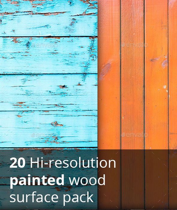 20 hi-res painted wood textures - Wood Textures