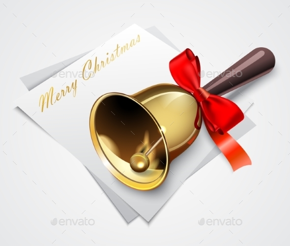 Gold Christmas Bells - Christmas Seasons/Holidays