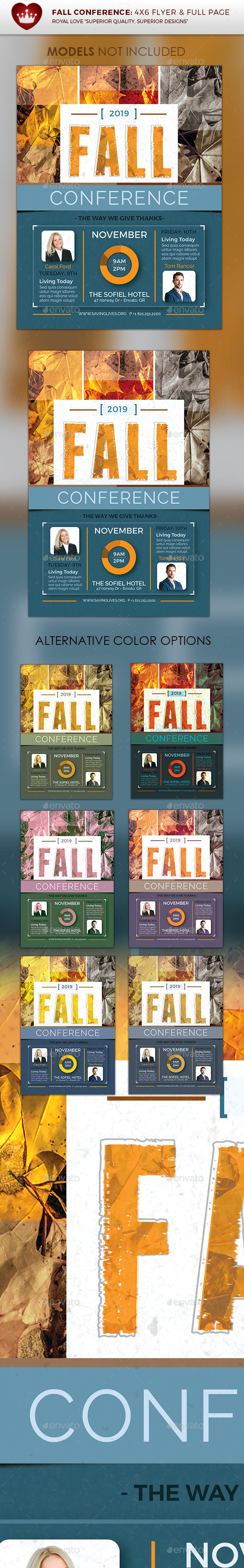 Fall Conference Flyer - Flyers Print Templates