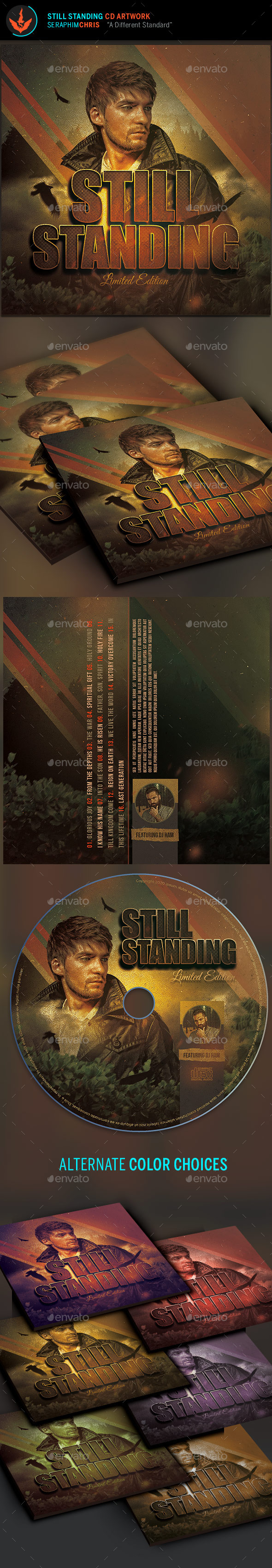 Still Standing: CD Artwork Template - CD & DVD Artwork Print Templates