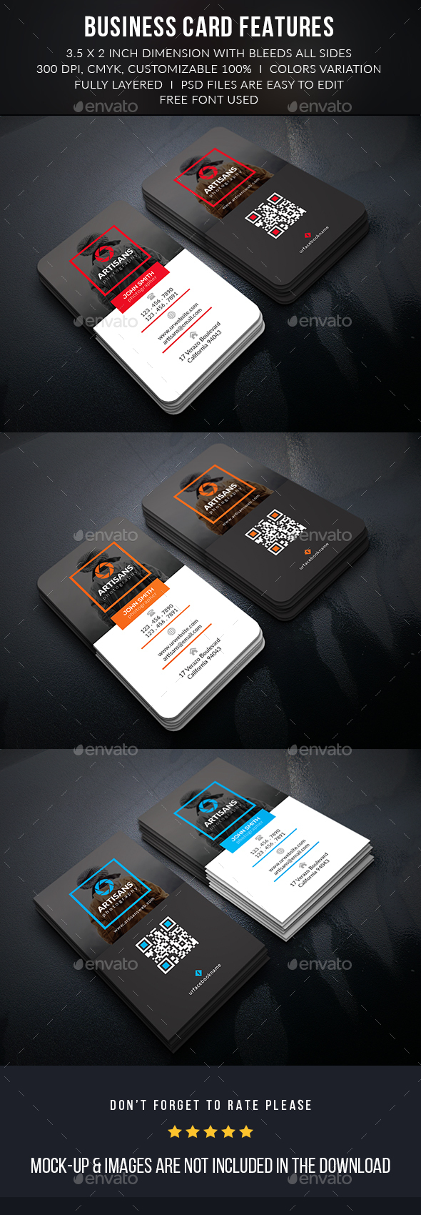 Creative Photographer Business Card - Business Cards Print Templates