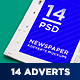14 Newspaper Adverts Mockups - GraphicRiver Item for Sale