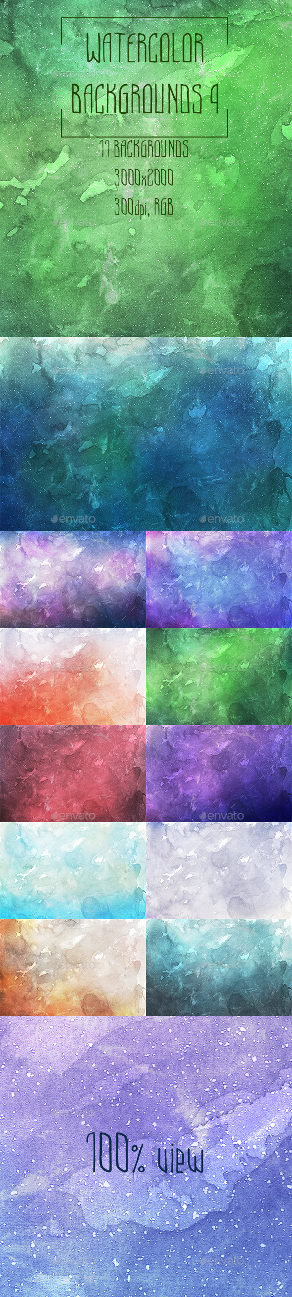 Watercolor Backgrounds 4 - Abstract Backgrounds