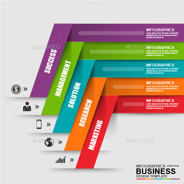 Abstract 3D Business Infographic - Infographics