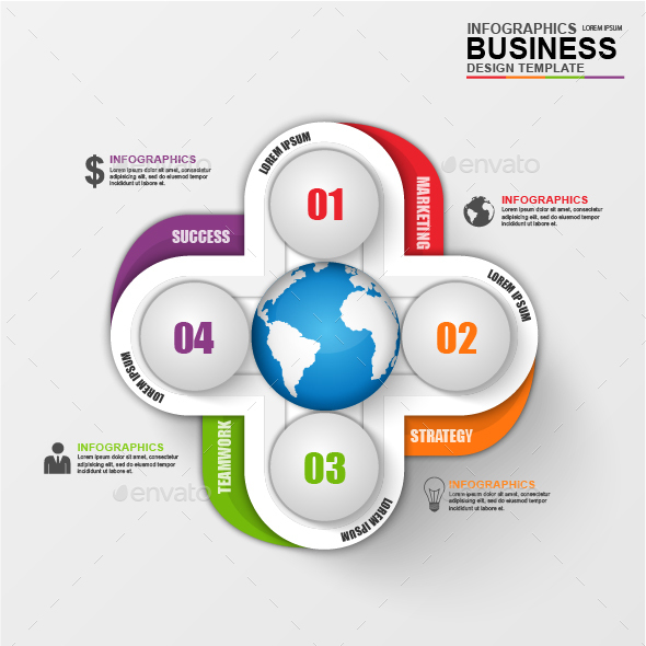 Abstract 3D Business Infographic