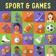 Sport and Games Flat Icons with Long Shadow - GraphicRiver Item for Sale