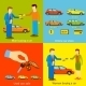 Man Buying a Car, Woman Buying a Car, Online Car - GraphicRiver Item for Sale