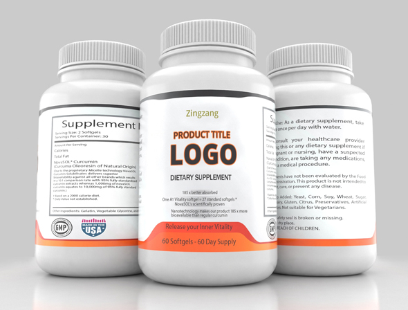 Three Sided Supplement Bottle