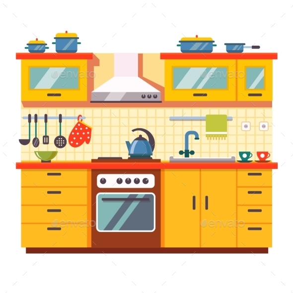Kitchen Wall Interior - Decorative Symbols Decorative