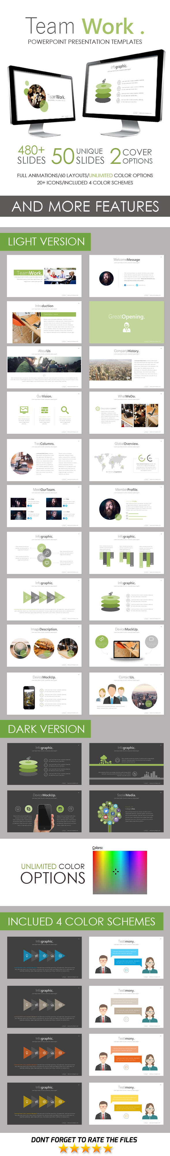 Team Work PowerPoint Template