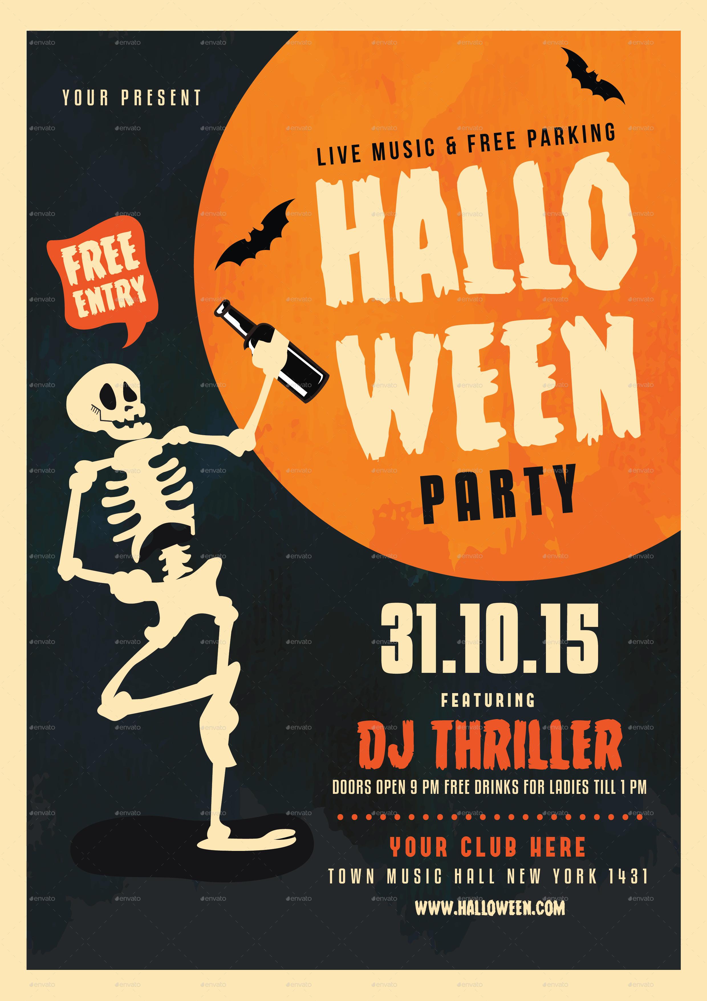 Halloween Skull Party