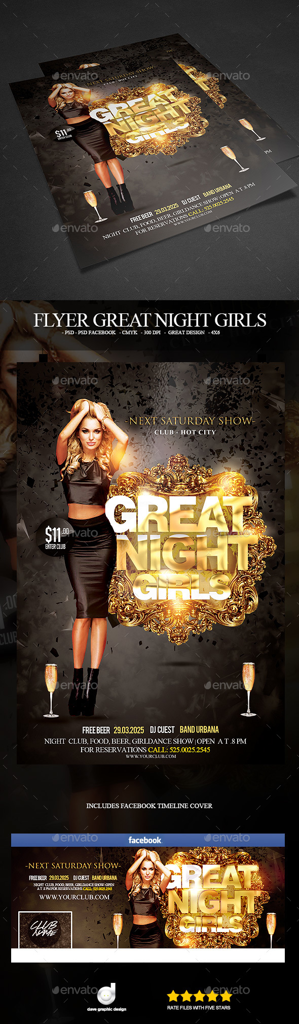 Flyer Night Girls - Clubs & Parties Events