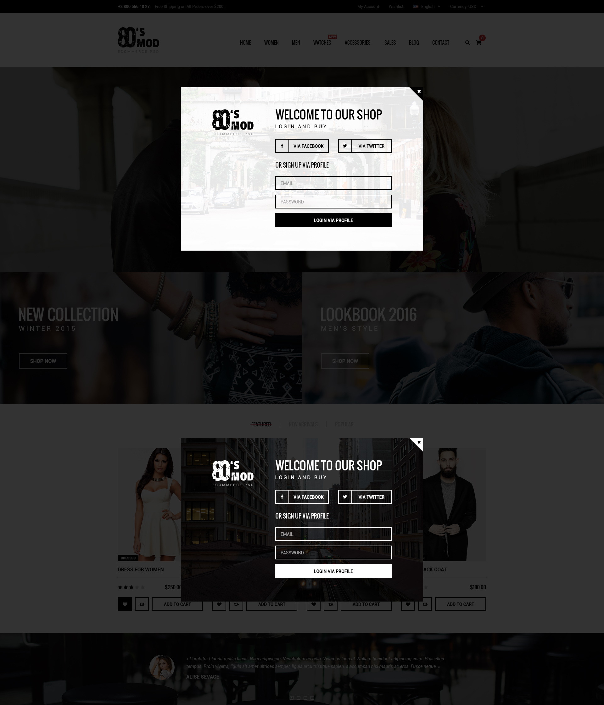 80\'s MOD - eCommerce PSD Template by wwwebinvader | ThemeForest