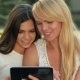 Daughter With Her Mother Used a Tablet - VideoHive Item for Sale
