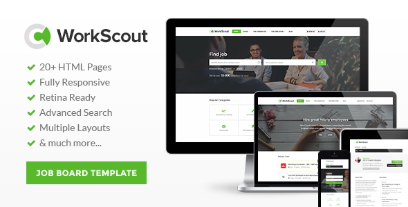 WorkScout – Job Board HTML Template