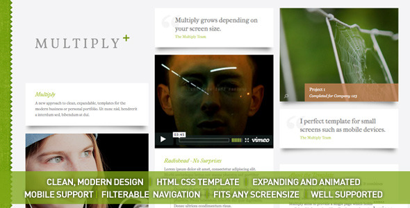 Multiply – Blog and Portfolio HTML/CSS Templates