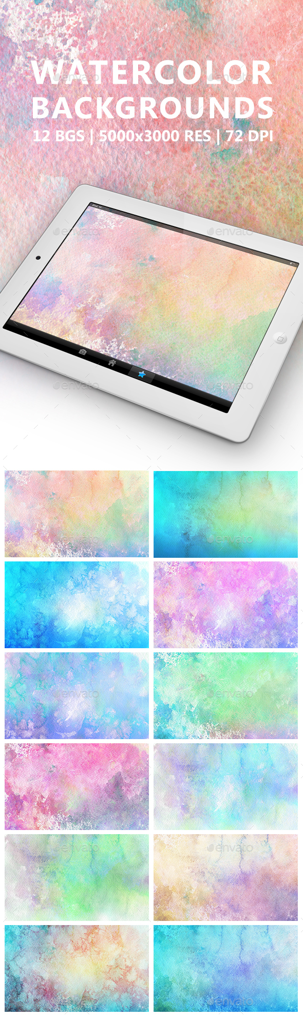 Watercolor Backgrounds - Abstract Backgrounds