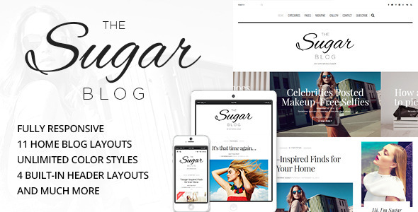 SugarBlog - Clean & Personal WordPress Blog Theme - Personal Blog / Magazine