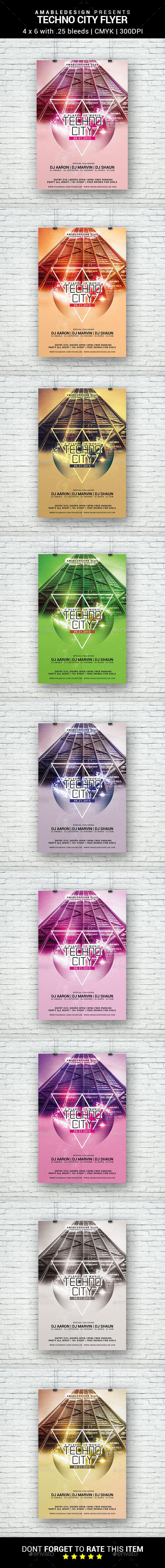 Techno City Flyer