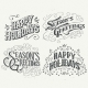 Happy Holidays Hand Drawn Typographic Headlines - GraphicRiver Item for Sale