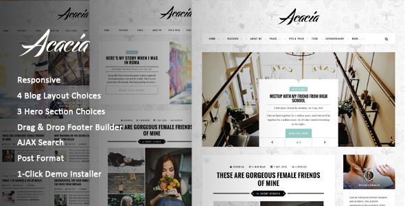 Acacia | Classy & Responsive WordPress Blog Theme