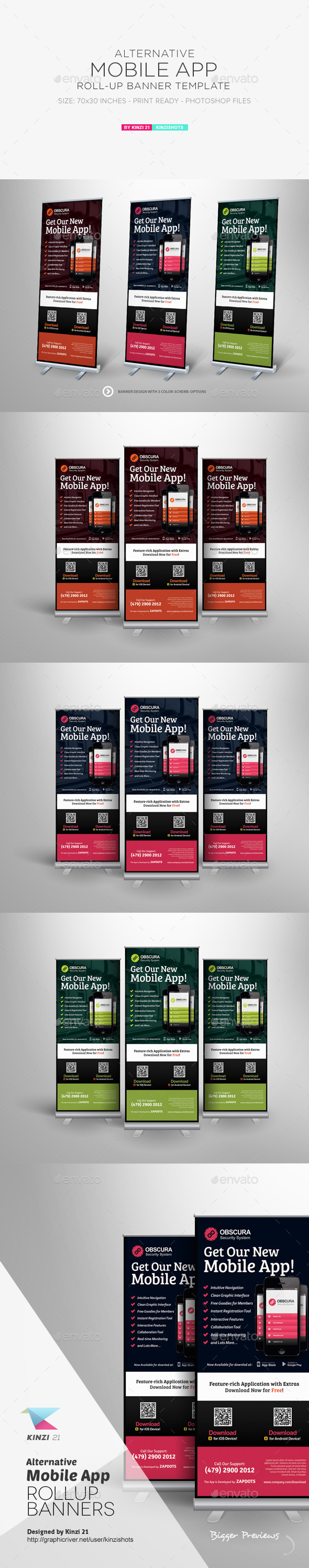 Alternative Mobile App Roll-up Banner Template