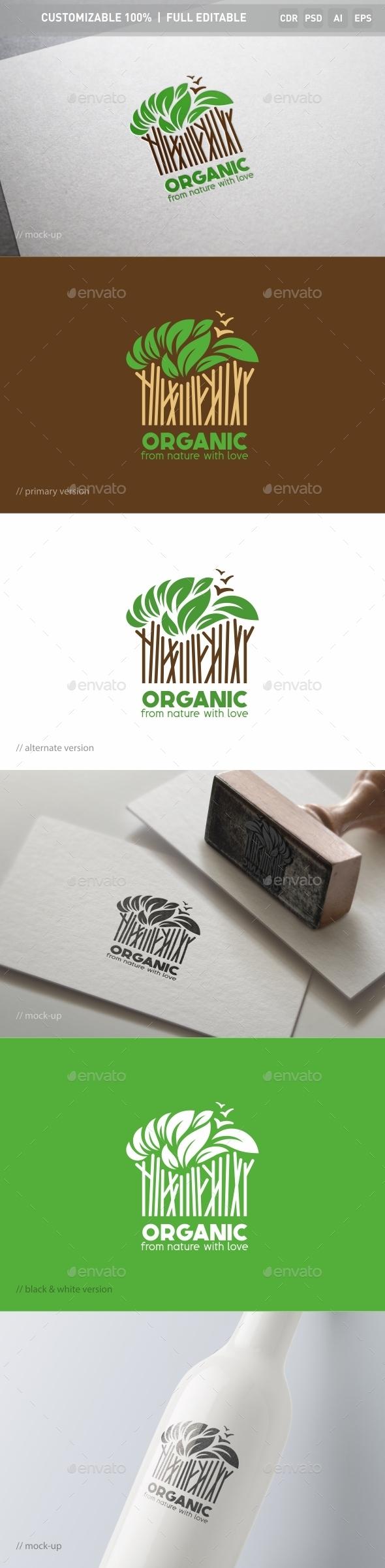 Organic Logo Template - Nature Logo Templates