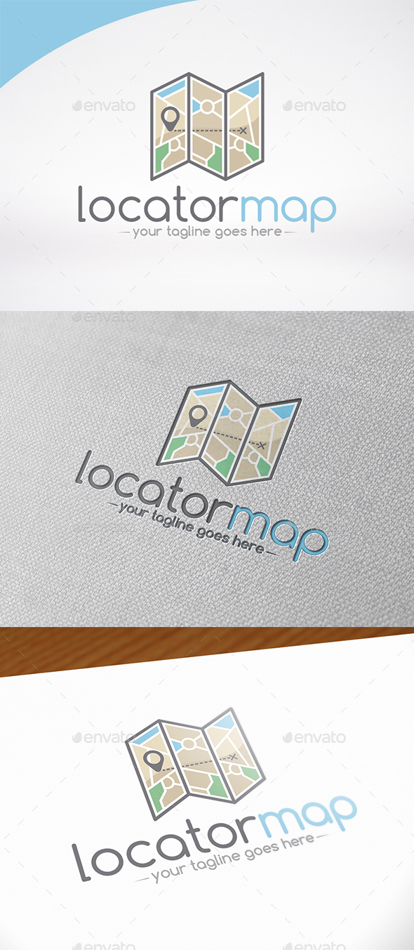 Map Locator Logo Template