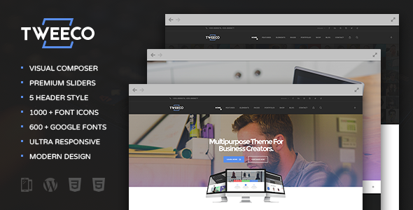 Tweeco – Responsive Multi-Purpose WordPress