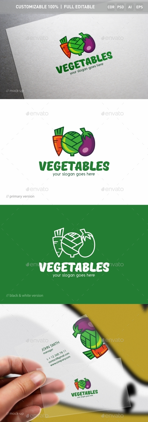 Vegetables Logo Template
