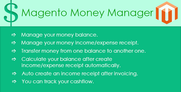 Magento Money Manager Extension - CodeCanyon Item for Sale